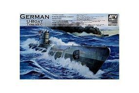 AFVClub German U-Boat Type VII C Submarine Plastic Model Submarine Kit 1/350 Scale #73503