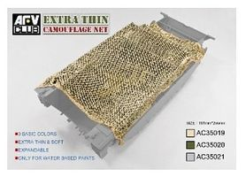 AFVClub Die Cut Camouflage Net Desert Tan Plastic Model Military Diorama 1/35 Scale #ac35019