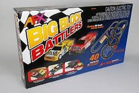 AFX Big Block Battler with TPP 40 HO Scale Slot Car Set #21004