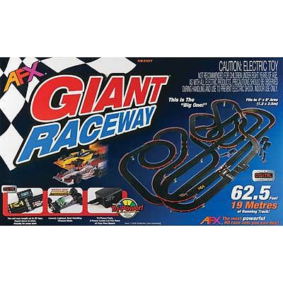 AFX Giant (MG+) with Lap Counter HO Scale Slot Car Set #21017