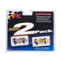 AFX Two Pack Formula HO Scale Slotcar Car #21021