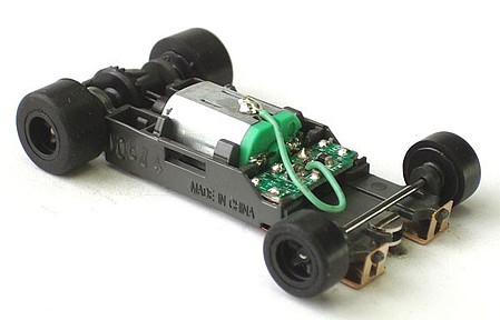 AFX Mega G+ Rolling Chassis Long -- HO Scale Slot Car Part -- #21023