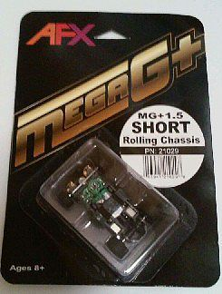 AFX Mega G+ Rolling Chassis Short -- HO Scale Slot Car Part -- #21029