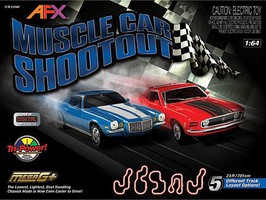 AFX Muscle Car Shootout Set w/Digital Lap Counter, 23