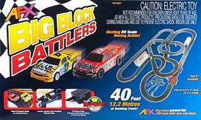 AFX Big Block Battler w/Tri-Power Pack 40 HO Scale Slot Car Set #70291