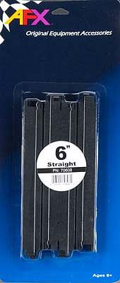 AFX 6 Straight Track (2) -- HO Scale Slot Car Track -- #70608