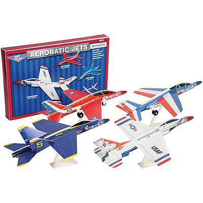 AG Industries Aerobatic Jets (4 Planes w/Display Stands)