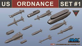 AMK 1/48 US Ordnance Weapons Set for F14D #88007
