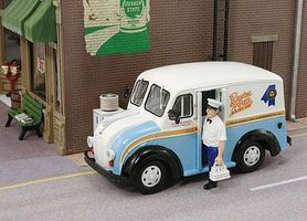 American-Heritage 1950 Delivery Truck- Rueter Worth Dairy Co. IL w/Milkman O Scale Model Railroad Vehicle #43013
