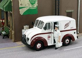 American-Heritage 1950 Delivery Truck- Hulls Dairy w/Milkman O Scale Model Railroad Vehicle #43015