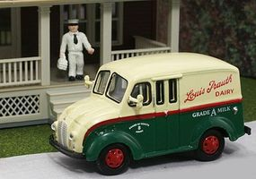 American-Heritage 1950 Delivery Truck Louis Trauth Dairy w/Milkman HO Scale Model Railroad Vehicle #87002
