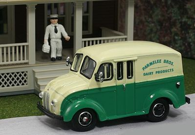 American Heritage Car Co. 1950 Delivery Truck- Parmelee Bros. Dairy Products -- HO Scale Model Railroad Vehicle -- #87005