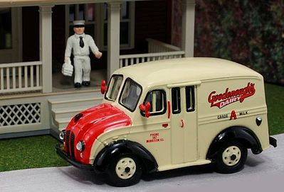 American Heritage Car Co. 1950 Delivery Truck- Goodenough's Dairy Products -- HO Scale Model Railroad Vehicle -- #87008