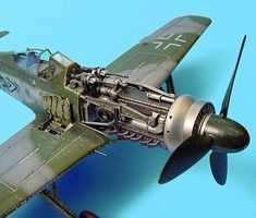 Aires Fw190D Engine Set For a Hasegawa Model 1/32 Scale Plastic Model Aircraft Accessory #2019