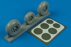 Aires P38 Wheels & Paint Mask Plastic Model Aircraft Accessory 1/32 Scale #2105