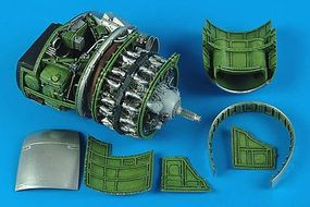 Aires P47D Engine Set For a Hasegawa Model Plastic Model Aircraft Accessory 1/32 Scale #2167