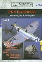 Aires P47N Detail Set For an Academy Model Plastic Model Aircraft Accessory 1/48 Scale #4013