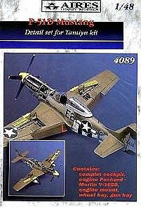 Aires P51D Detail Set For a Tamiya Model Plastic Model Aircraft Access 1/48 Scale #4089
