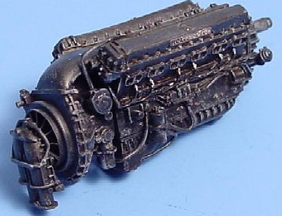 Aires Rolls Royce Merlin Mk 11 Engine Plastic Model Aircraft Accessory 1/48 Scale #4099