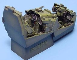 Aires AH64D Cockpit Set For a Hasegawa Model Plastic Model Aircraft Accessory 1/48 Scale #4137