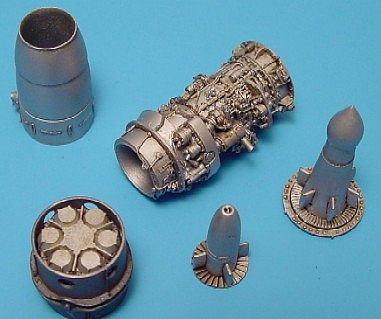 Aires Junkers JUMO 004B1 Jet Engine (Resin) Plastic Model Aircraft Accessory 1/48 Scale #4140