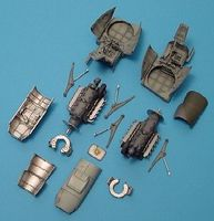Aires Me410A1 Engine Set For a Revell Model Plastic Model Aircraft Accessory 1/48 Scale #4170
