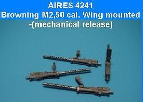 Aires Browning M2 .50cal Wing Mounted Plastic Model Aircraft Accessory 1/48 Scale #4241