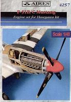 Aires P51B/C Engine Set For a Tamiya Model Plastic Model Aircraft Accessory 1/48 Scale #4257
