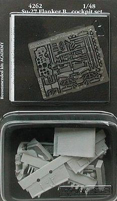 Aires Su27 Flanker B Cockpit Set For an Academy Model Plastic Model Aircraft Accessory 1/48 #4262