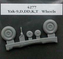 Aires Yak9 (D/DD/K/T) Wheels (Resin) Plastic Model Aircraft Accessory 1/48 Scale #4277