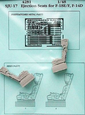 Aires Hobby F/A18E/F, F14D SJU17 Ejection Seats -- Plastic Model Aircraft Accessory -- 1/48 Scale -- #4281