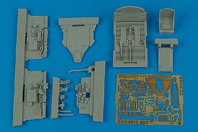 Aires Hobby P47D Cockpit Set For a Tamiya Model -- Plastic Model Aircraft Accessory -- 1/48 Scale -- #4465