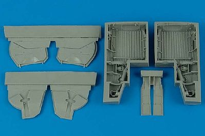 Aires Hobby P47 Wheel Bays For a Tamiya Model -- Plastic Model Aircraft Accessory -- 1/48 Scale -- #4466