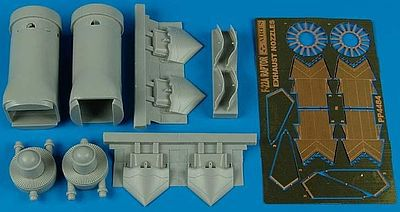 Aires F22A Exhaust Nozzles Opened For Hasegawa Plastic Model Aircraft Accessory 1/48 #4484