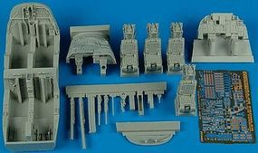 Aires EA6B ICAP 2 Late Cockpit Set For Kinetic Plastic Model Aircraft Accessory 1/48 #4487