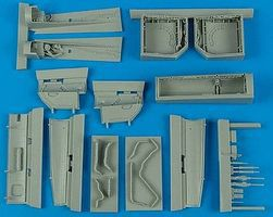 Aires Su27 Flanker Wheel Bay For an Academy Model Plastic Model Aircraft Accessory 1/48 #4549