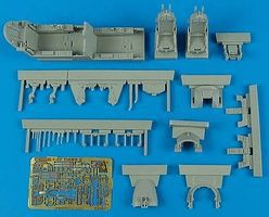 Aires F5F Cockpit Set For an AFV Club Model Plastic Model Aircraft Accessory 1/48 Scale #4551