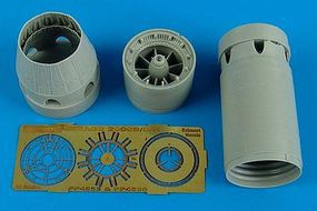 Aires Mirage 2000C/B/D/N Exhaust Nozzle Closed Plastic Model Aircraft Accessory 1/48 #4556