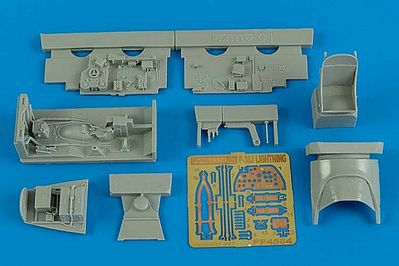 Aires Hobby P38J Cockpit Set For an Academy Model -- Plastic Model Aircraft Accessory -- 1/48 Scale -- #4564