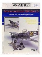Aires Bf190D6 Detail Set For a Hasegawa Model Plastic Model Vehicle Accessory 1/72 Scale #7025
