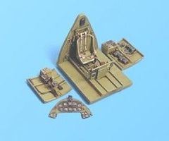 Aires F6F3/5 Cockpit Set For an Academy Model Plastic Model Aircraft Accessory 1/72 Scale #7032
