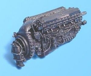 Aires Hobby Rolls Royce Merlin Mk 22 Engine -- Plastic Model Aircraft Accessory -- 1/72 Scale -- #7071