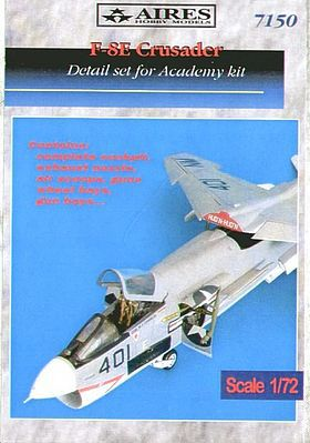 Aires F8E Detail Set For an Academy Model Plastic Model Aircraft Accessory 1/72 Scale #7150