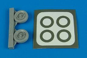 Aires A1H Wheels & Paint Masks For a Hasegawa Model Plastic Model Aircraft Accessory 1/72 #7221