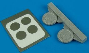 Aires Bf109G6 Wheels & Paint Masks Plastic Model Aircraft Accessory 1/72 Scale #7233