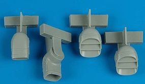 Aires Harrier GR5/7 Exhaust Nozzles For Hasegawa Plastic Model Aircraft Accessory 1/72 #7251