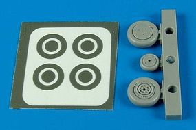 Aires P39 Wheels & Paint Masks For an Academy Model Plastic Model Aircraft Accessory 1/72 #7287