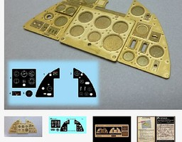 Airscale 1/24 Hurricane Mk 1 Instrument Panel (Photo-Etch & Decal) for ARX