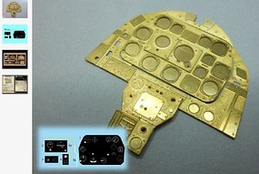 Airscale 1/24 P51D Mustang Instrument Panel (Photo-Etch & Decal) for ARX