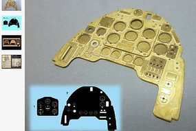 Airscale 1/24 Junkers Ju87B Stuka Instrument Panel (Photo-Etch & Decal) for ARX